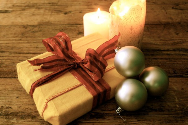 candle and gifts