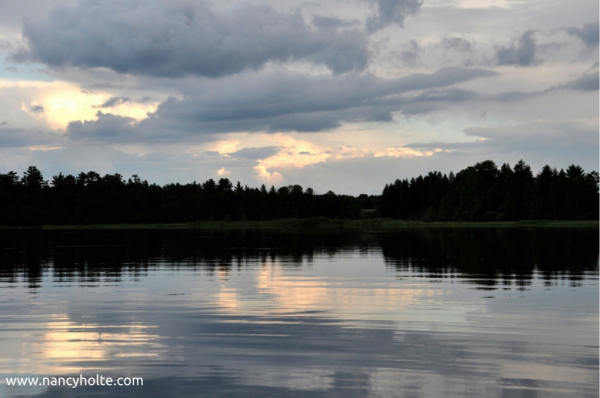 "The clouds, the ripples in the water, the reflections, the quiet; it all makes me utter a relaxed ""Ahhh . . . """