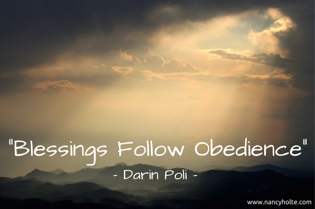 Blessings Follow Obedience