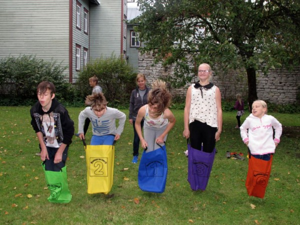 A classier version of potato sack races. It was hysterical to watch.